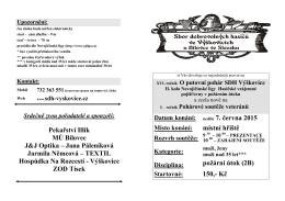 Pozvánka - Výškovice - Novojičínská liga v požárním útoku