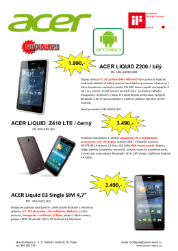 ACER Liquid E3 Single SIM 4,7""