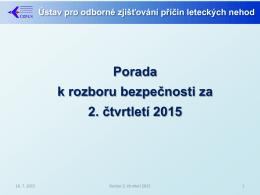 2. čtvrtletí 2015 - Ústav pro odborné zjišťování příčin leteckých nehod
