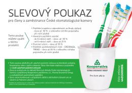 Slevový poukaz pro členy a zaměstnance ČSK