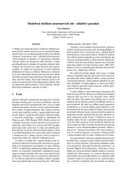 Modelová složitost neuronových sítí