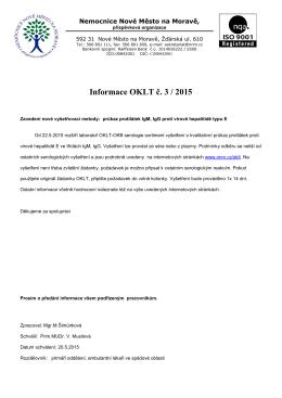č.3-2015-Zavedení nové vyšetřovací metody