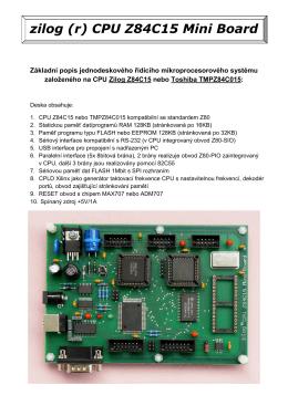 Z84C15 Miniboard popis