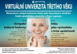 VU3V podzim - Masarykova veřejná knihovna Vsetín