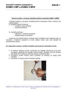 Návod na čistění odvaděčů parního kondenzátu K5MP a