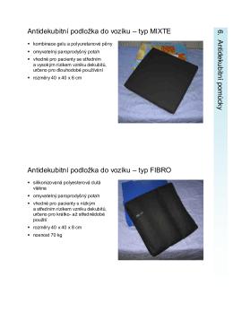 Katalog - 06 antidekubitní pomůcky