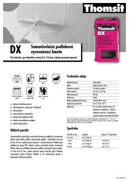 Thomsit DX Samonivelační podlahová vyrovnávací hmota (Polsko)
