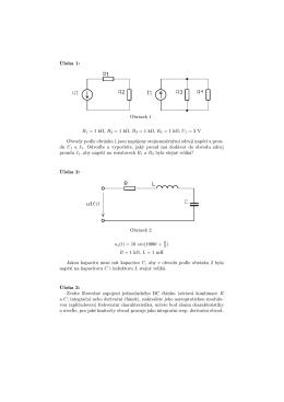 Úloha 1: Obrázek 1 R1 = 1 kΩ, R2 = 1 kΩ, R3 = 1 kΩ, R4 = 1 kΩ, U1
