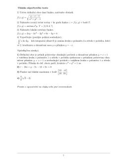 Ukázka zápočtového testu 1) Určete definiční obor dané
