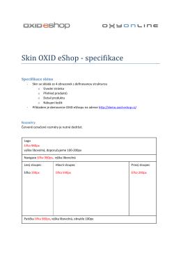 Skin OXID eShop