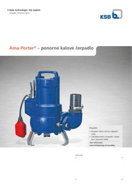 Ama-Porter® – ponorné kalové čerpadlo