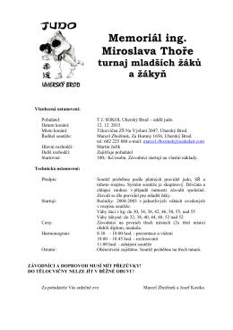 Memoriál Ing.Thoře Uh.Brod 12.12.2015 ()