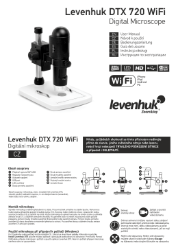 Digitální mikroskop Levenhuk DTX 720 WiFi