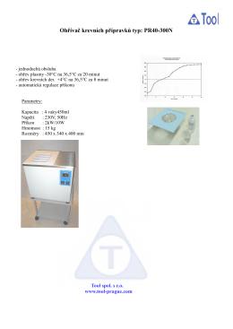 Ohřívač krevních přípravků typ: PR40-300N