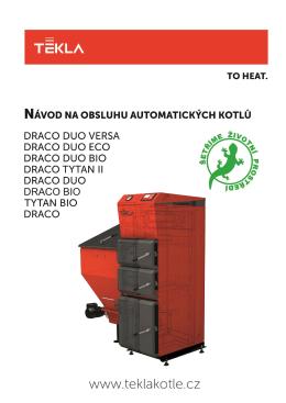 Návod na obsluhu a instalaci automatických kotlů Tekla. 1