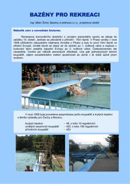 BAZÉNY PRO REKREACI - Bazény a wellness sro
