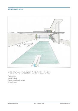 montážní návod bazén (standard)