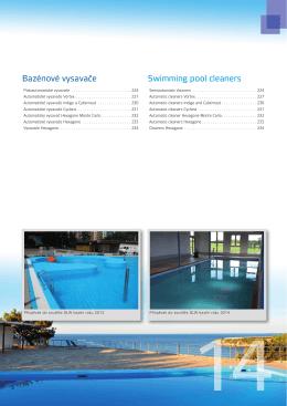 Bazénové vysavače Swimming pool cleaners
