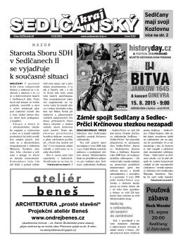 Sedlčanský kraj 30/2015