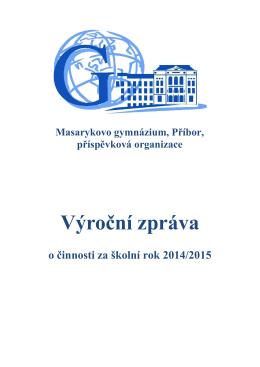 Výroční zpráva - Masarykovo gymnázium Příbor
