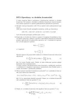 DÚ5 Operátory ve druhém kvantování