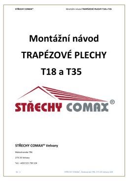 Montážní návod TRAPÉZOVÉ PLECHY T18 a T35