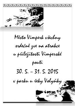 Město Vimperk všechny srdečně zve na atrakce u příležitosti
