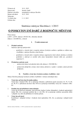 Směrnice č. 1/2015