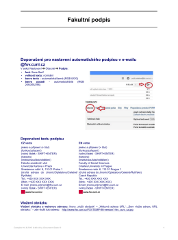 Fakultní podpis - Univerzita Karlova