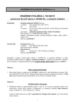 Dražební vyhláška LV 147 723-DD 1 podpis