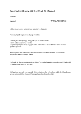 Denní svícení kulaté 4LED (4W) x2 RL Maxeed