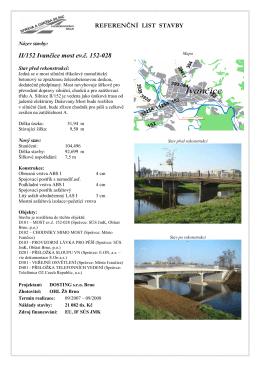Referenční list stavby - II/152 Ivančice most ev. č. 152-028