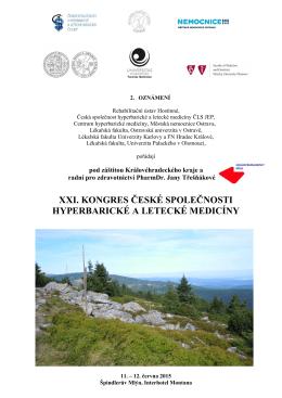 xxi. kongres české společnosti hyperbarické a letecké medicíny