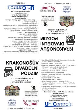skládačka s programem - Krakonošův divadelní podzim