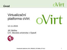 Virtualizační platforma oVirt