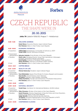 CzeCh RepubliC - Aspen Institute Prague