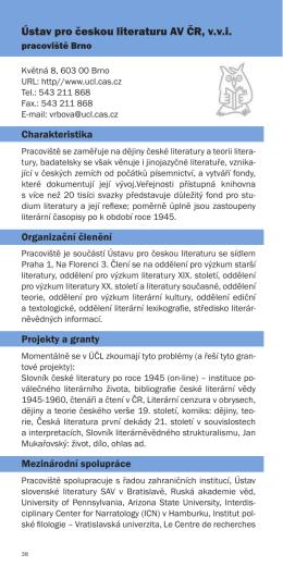 Ústav pro českou literaturu AV ČR, v.v.i.