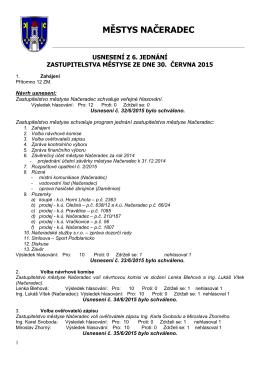 ZÁPIS ZE 7 - Městys Načeradec