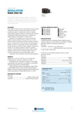 RegulátoR ŘADA CRA140