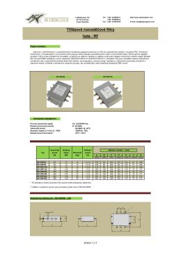 Třífázové rozvaděčové filtry řada : RF