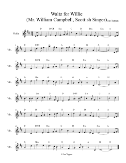 Waltz for Willie (Mr. William Campbell, Scottish Singer)Jan Tappan