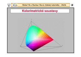 Michal Vik a Martina Viková: Základy koloristiky – ZKO6
