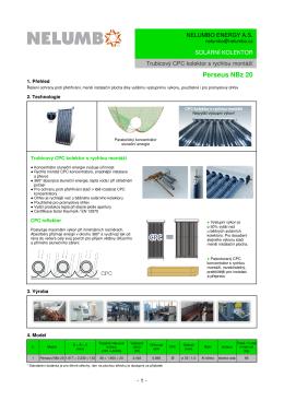 Katalog solárních systémů Nelumbo Energy 2015
