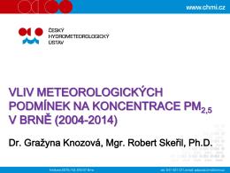 Knozová_Vliv meteorologických podmínek na PM2.5 22.9.2015
