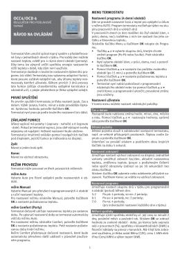 OCC4/OCD 4 NÁVOD NA OVLÁDÁNÍ - Vykurovacia
