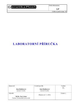 Laboratorní příručka