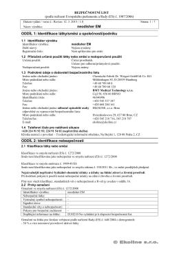 Bezpečnostní list neodisher ® EM