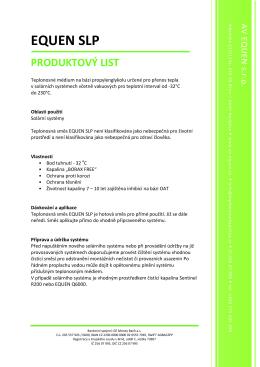 Produktový list_EQUEN SLP - AV
