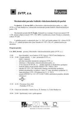SVTP-porada ředitelů, Budějovice 15-1