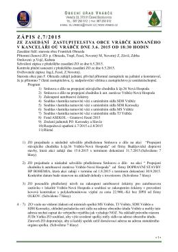 Zápis č.7 pro rok 2015